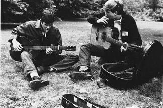 John and Dave at Newport, 1964
